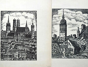 Willi-Dohler-1905-1973-Set-of-4-Engravings-on-Wood-Germany