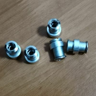 5pcs//lot Extra-long triple Chainring Bolts /&Nuts Spacers
