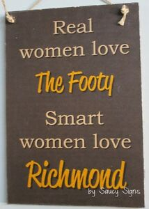 Real-Women-Richmond-Footy-Sign-Bar-Kitchen-Office-Shed-BBQ-Tigers-Wooden-Chic