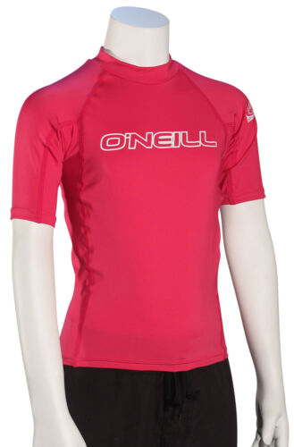 O/'Neill Kid/'s Basic Skins SS Rash Guard New Watermelon