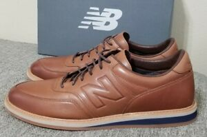 Leather Brown Walking Shoes MD1100LB