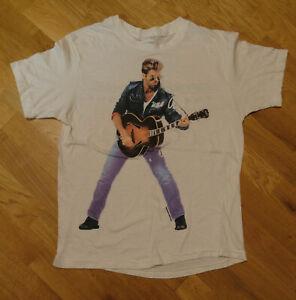 RARE-1988-GEORGE-MICHAEL-vtg-concert-tour-band-tee-t-shirt-new-reprint