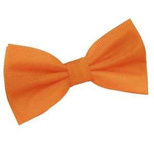 DQT-Woven-Plain-Solid-Check-Celosia-Orange-Formal-Classic-Mens-Pre-Tied-Bow-Tie
