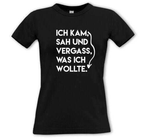 Funshirt Geschenk Sprüche Comedy - Girlie Hoodie SAH UND VERGASS.. ICH KAM