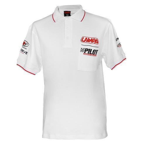 Polo t-scirt maglietta moto auto bianco XXXL