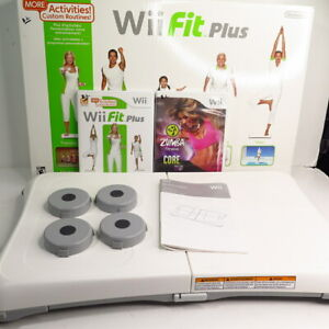 Nintendo Wii Fit Plus Balance Board 2 Games Wii Fit Plus and Zumba Core