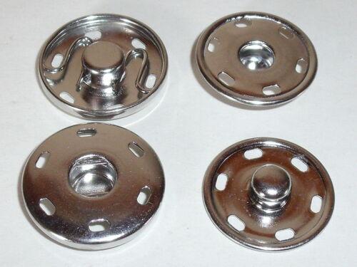 6 große Druckknöpfe Knöpfe Druckknopf zum Annähen 25 mm  silber  NEU rostfrei