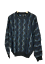 Protege-Men-039-s-Size-M-Crew-Neck-Sweater-Cosby-Coogi-Biggie-Style-Black-Blue-Knit Indexbild 1