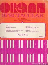 Organ Spectacular Sheet Music All ORGANS Easy With Guitar Symbols '20s - '60s