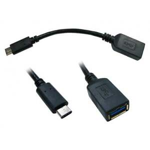 15cm-USB-3-0-A-a-Type-C-male-passe-cable-Chargeur-Galaxy-S8-Nokia-N1-Mac
