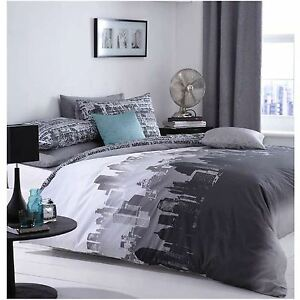 Details about CATHERINE LANSFIELD CITY SCAPE DOUBLE DUVET COVER SET NEW  YORK STYLE