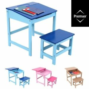 Delicieux Details About STUDY DESK AND CHAIR SET / School Drawing Homework Table  Stool For Kids Children