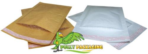 BAGS Mailer-Bianco e Oro-Tutte le Taglie Imbottito foderato con pluriball BUSTE