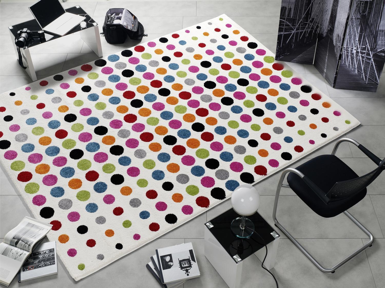 Tapis MultiCouleure Designer ha003 point Modern points 120x170cm Couleuré à pois