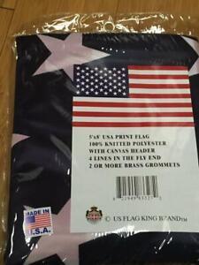 RUFFIN FLAG ® #1 Series American US Flag Heavy Duty Nylon Printed Stars USA Made