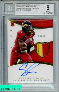 2015-IMMACULATE-COLL-Stefon-Diggs-338-COLLIGATE-MULTISPORT-RC-99-RPA-BGS-9
