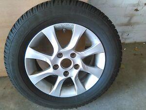 4-x-Dunlop-M-S-195-65R15-auf-Alufelge-fuer-Mazda