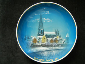 Rosenthal-Christmas-Plate-1966-Christmas-IN-Ulm-Meine-No-1966-1