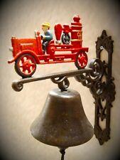 Feuerwehr Glocke Spritzenwagen Geschenk Vintage Deko Eisen Ambiente aus Gescher