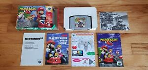 Mario Kart 64 Nintendo 64 N64 Cart Video Game Complete CIB Manual Box lot TESTED