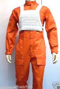 X-Wing Rebel Fighter Pilot Orange Jumpsuit   White Flak Vest Star ...