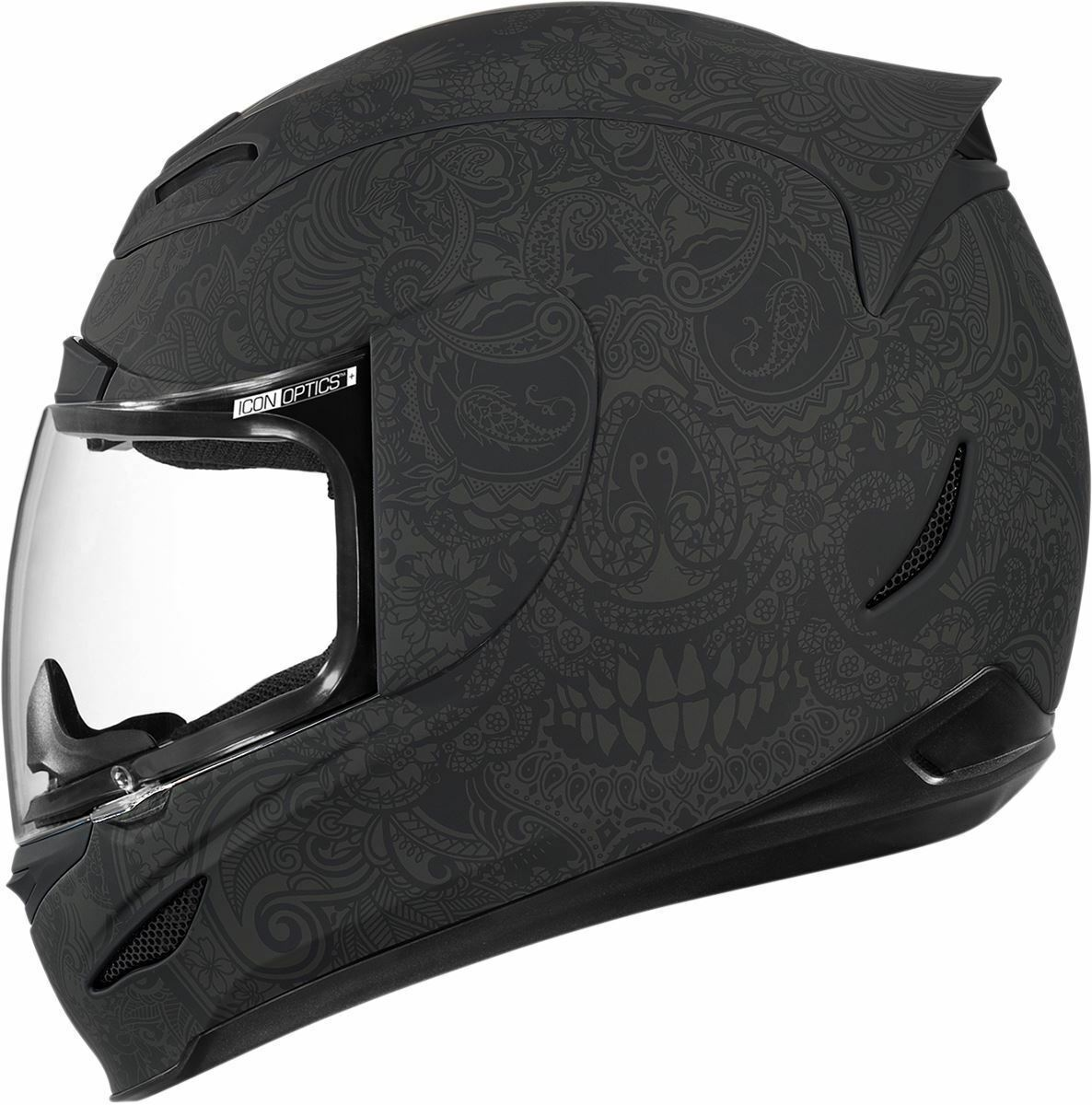 Icon airmada chantilly negro motocicleta Casco