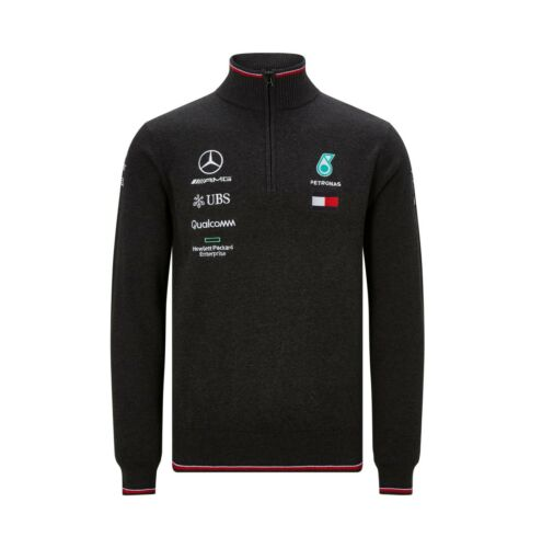 NEUF 2019 Mercedes AMG F1 Team Lewis Hamilton Zip Pull Sweater Top Homme