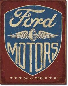 Ford Motor Company Metal Tin Ad Sign Repair Shop Auto Garage Parts