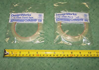 2 Rolls Clear Florist Water Resistant Tape 1/4 And 1/2 Wedding Flowers