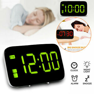 Large-LED-Digital-Alarm-Snooze-Clock-Voice-Control-Time-Display-5-034-Screen