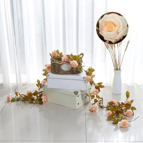 Silk Rose Leaf Garland Vine Ivy Wedding FreshFloral Artificial Art Deor Flower E
