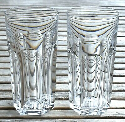 Lot de 2 verres à orangeade chope en cristal BACCARAT France Harcourt 1841 3   eBay