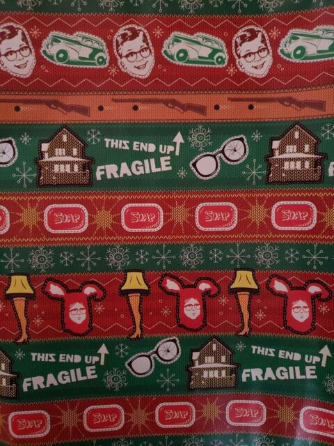 A Gift For Christmas Story.A Christmas Story Christmas Holiday Gift Wrapping Paper 20 Sq Ft