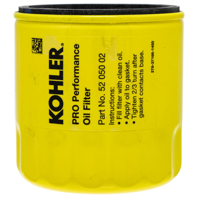 Oil Filter for Mowers w Kohler Engines KH-52-050-02-S 531307392 491056S 5909