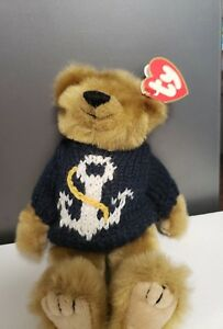 "Pirate Ty Beanie Baby Bear ""Salty"" Nice Condition With Tags 1993  602f44982cd"