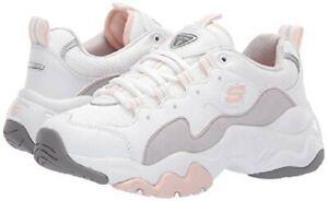 Estable Reunión Destino  Skechers D' Lites 3.0 Zenway Mujer Zapatillas Plataforma Blanco Gris Rosa |  eBay