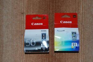 Cartouches Canon PG-50-CL-51 neuves