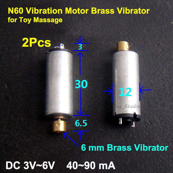 2pcs 3V-6V DC Vibrating Motor N60 Vibration Motor Brass Vibrator for Toy Massage