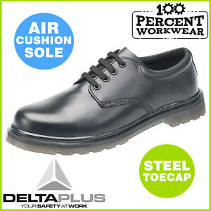 Comfortable-Air-Cushion-Sole-Derby-Leather-Mens-Work-Safety-Shoes-Steel-Toe-Cap