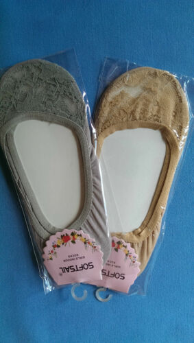 Ballerina HQ Ladies Lace Footsie Liner Ankle Invisible  Shoes Short Socks SOFTSA