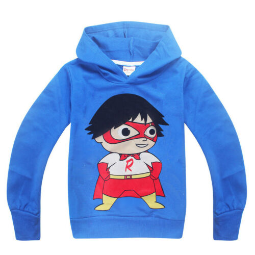 Ryan Toys Review 2019 New Spring and Autumn Hoodie Children/'s Long Sleeve Hoodie