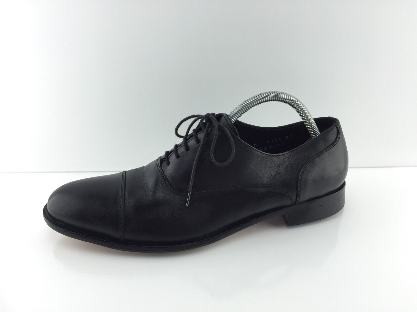 Broletto Mens Black Leather Dress shoes 9.5 M