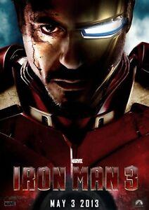 Enthousiaste Stickers Autocollant Transparent Poster A4 Affiche Iron Man 3 Saveur Aromatique