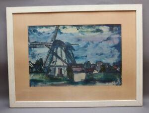 Winfried DAMROW Stettin 1925-2000 Bad Teinach-Zavelstein - Mühle vor Dorfkulisse