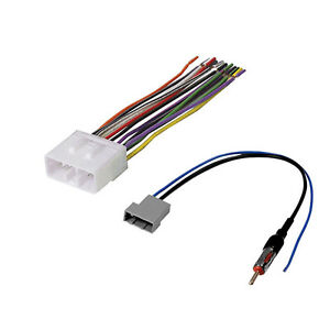 car stereo cd player wiring harness adapter cable aftermarket radio rh ebay com