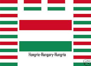 Assortiment lot de10 autocollants Vinyle drapeau Hongrie-Hungary-Hungria