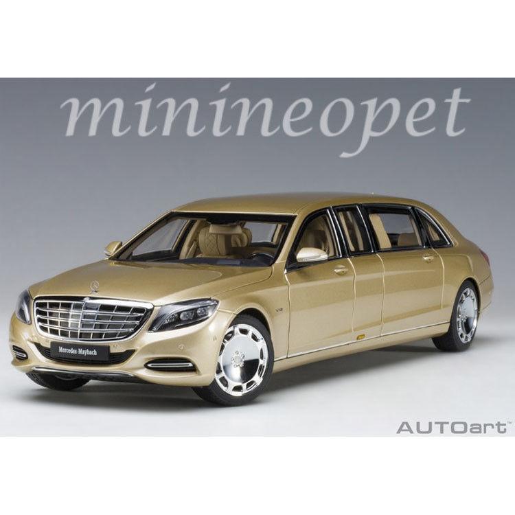 AUTOART 76298 Mercedes Benz Maybach S 600 Pullman Limousine 1 18 voiture modèle or