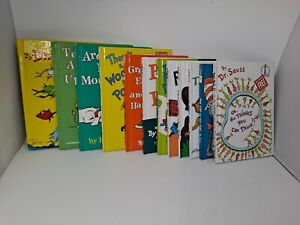Dr. Suess Lot of 12 Book Club Edition Mixed Lot Beginner Books