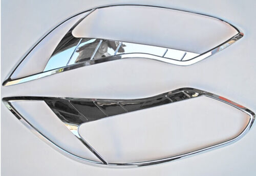 2x Chrome Frotn Headlight Lamp Frame Cover Trim For Ford Focus 3 2012 2013