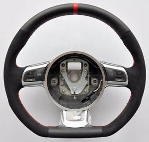 audi s line alcantara a3 a4 a5 a6 a8 tt rs q5 q7 r8 steering wheel flat bottom ebay. Black Bedroom Furniture Sets. Home Design Ideas